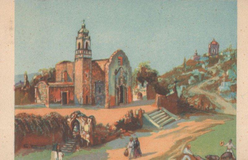 Acapanzingo Mor Oleo De Salvador Tarazone Mexican Painting Postcard