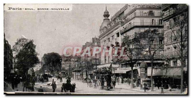 Paris - Old Postcard - Boulevard Bonne Nouvelle