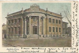The Public Library Hannibal Missouri MO 1907 S. H. Knox & Co. Undivided Back