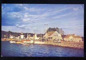 Naples, Maine/ME Postcard, Boat Landing, Bay Of Naples, Esso Sign, 1960's?