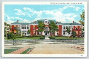 Fairmont West Virginia~Fairmont State Hospital~Circular Driveway Front~1940s