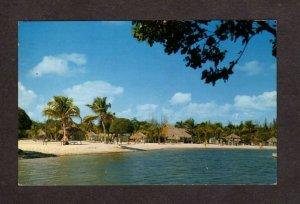 FL Tahiti Beach Owner Paul U Gerber Coral Gables Florida Postcard