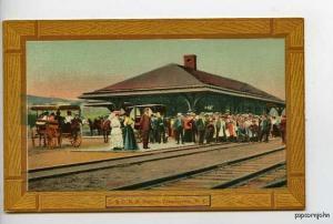 Tannersville NY Railroad Train Station Postcard