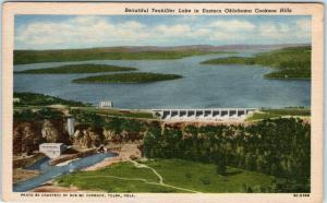 EASTERN OKLAHOMA Cookson Hills, OK    Beautiful TENKILLER LAKE  c1940s Postcard