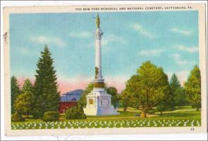 NY State Monument & National Cemetery, Gettysburg PA