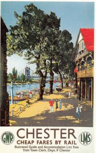 GWR & LMS Railroad Poster art , 40-50s ; CHESTER