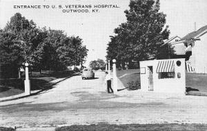 Outwood Kentucky~Guard Shack at Entrance To US Veterans Hospital~1940s B&W PC