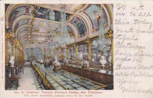 California San Francisco A Andrews Famous Diamond Palace 1905