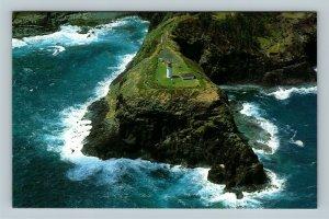 Kauai HI, Kilauea Lighthouse, Aerial View, Chrome Hawaii Postcard