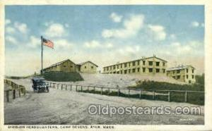 Headquarters Camp devens, Massachusetts, USA Military Postcard Postcards  Hea...