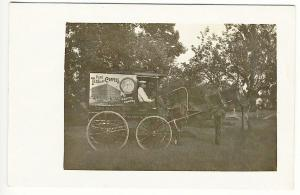 Fitchburg MA Delivery Horse Wagon Teas Coffees Baking Powder Real Photo Postcard