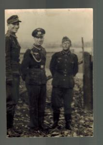 Mint WW 2 Germany Wehrmacht Soldiers Officer Group RPPC Postcard real picture