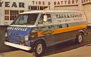 San Francisco CA Kahn & Keville Goodyear Tire & Battery Delivery Van Postcard