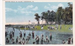 Pennsylvania Harrisburg Bathing Beach On Island