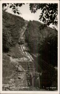 Bergen Norge Norway Floibanen Incline RR Train c1920 Real Photo Postcard
