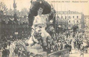CARNAVAL DE NICE Madame Carnaval Parade Float c1910s Vintage Postcard