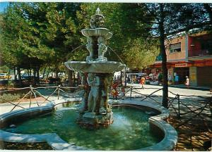Castellaneta Marina Italy Taranto Fountain Square Shoppes  Postcard  # 7079