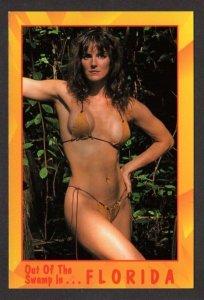 FL Risque Bathing Beauty Women Swamp Pin Up Girl FLORIDA Postcard Carte Postale