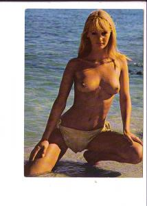 Nude, Blonde Woman in Water, Kruger, Made in Western Germany