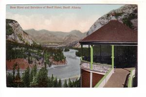 Bow River and Belvidere of Banff Hotel, Alberta