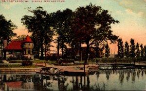 Maine Portland Deering Park and Pond 1911