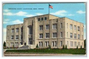 Bend OR, Deschutes County Courthouse, Oregon c1946 Postcard Z56