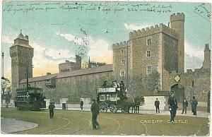 VINTAGE POSTCARD: GB : WALES - Cardiff - TRAM 1905