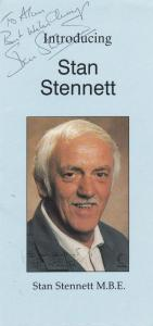 Stan Stennett Crossroads Live Performance Hand Signed Theatre Flyer