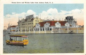 Ocean Grove & Wesley Lake from Asbury Park, New Jersey 1920 Vintage Postcard