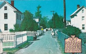 Virginia Tangier Island Main Street With White Picket Fence