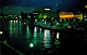 Florida Fort Lauderdale Mysterious New River At Night