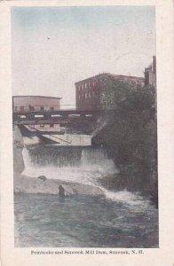 New Hampshire Swanzey Pembroke And Suncook Mill Dam 1912
