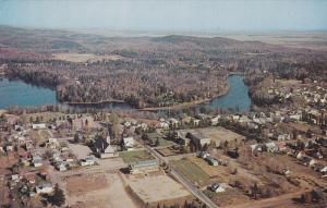 Aerial view, The Village of Sunshine,  Rawdon,  Quebec,  Canada,  40-60s