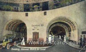 Hamburg Germany, Deutschland Postcard Elbtunnel, Blick in den Tunnel  Elbtunn...