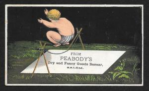 VICTORIAN TRADE CARD C Hacker & Co Dry Goods