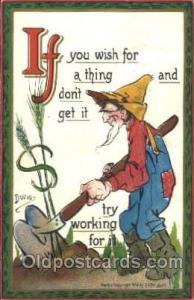 Series 100 If & Ands Artist Dwig, C.V. Dwiggins (US) Postcard Post Card Ser...