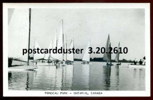 2610 - RONDEAU PARK Ontario 1955 Yachting. Real Photo Postcard
