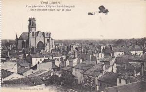 France Toul Vue generale L'Eglise Saint Gengoult Un Monoplan volant sur la Ville