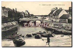 Old Postcard Isigny Sur Mer harbor at low tide