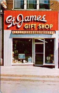 St. James Gift Shop Port Arthur Ontario ON Unused Vintage Ad Promo Postcard E18
