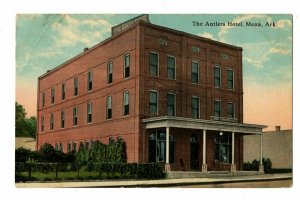 Mena Arkansas Postcard Street View The Antlers Hotel Front Entrance #75553