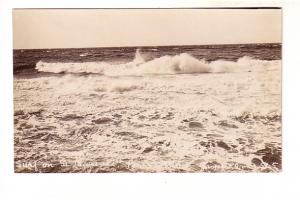 Real Photo, Surf on St Lawrence, Perce, Gaspe, Quebec,