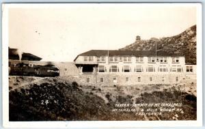 RPPC  MT. TAMALPAIS & Muir Woods Railway  TAVERN at Summit  Marin 1927  Postcard