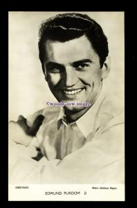 b6427 - Film Actor - Edmund Purdom - M.G.M. - plain back - postcard