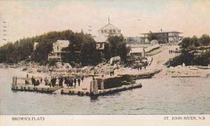 Dock on St John River at Browns Flats - New Brunswick, Canada - pm 1908 - DB