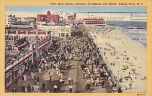 View From Casino Showing Boardwalk And Beach Asbury Park New Jersey 1953