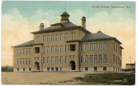 View Card - Ca. 1910 Card Showing Model School, Vancouver