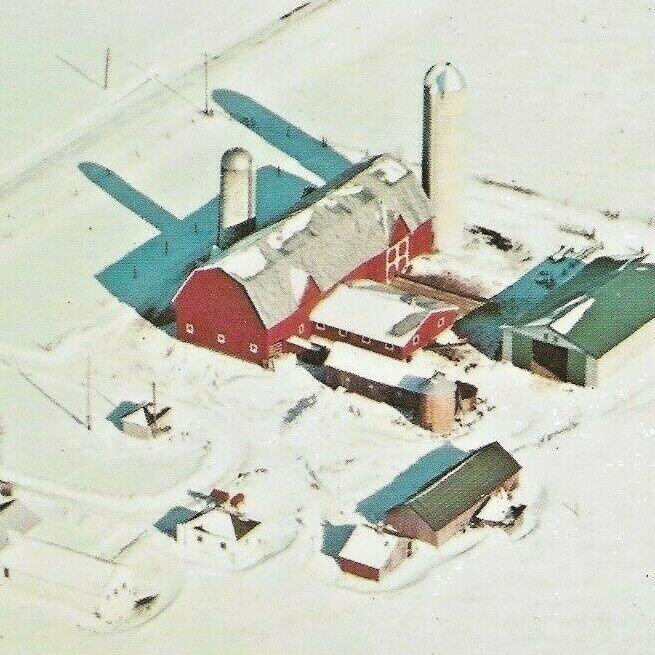 Frankenmuth, Michigan 1975 Farm Winter Snow Silo I-75 Flint Birch Run Freeman