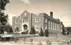 1945 Fremont Nebraska Gymnasium Midland College RPPC Real photo 812