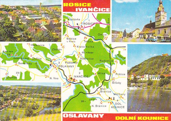Czechoslovakia Okoli Brna Multi View With Map